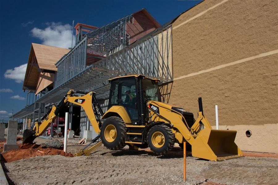 The F2 Series Cat backhoe loaders includes the 416F2, 420F2, 430F2, and a model new to the range, the 415F2.