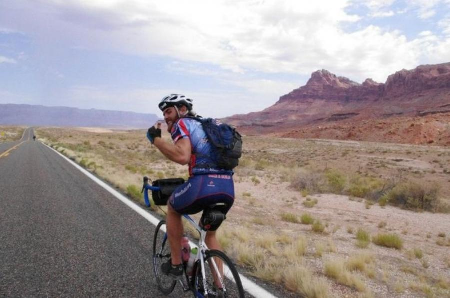 Brandon Biggs will spend 10 weeks traveling the country by bicycle and building houses.