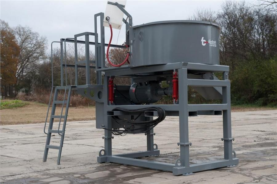 Blastcrete Equipment Company's 2200 pan mixer can mix 1.1 ton (1 t) of refractory castable in two minutes or less.