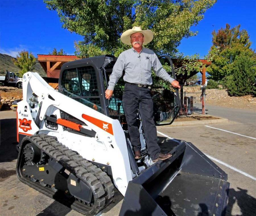 Steve Klumker with his new special edition one-millionth Bobcat T650 compact track loader.