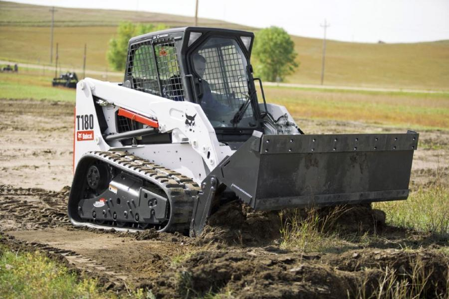 Bobcat and Trimble have teamed up to improve receivers for laser-guided grading with Bobcat box blade or grader attachments.