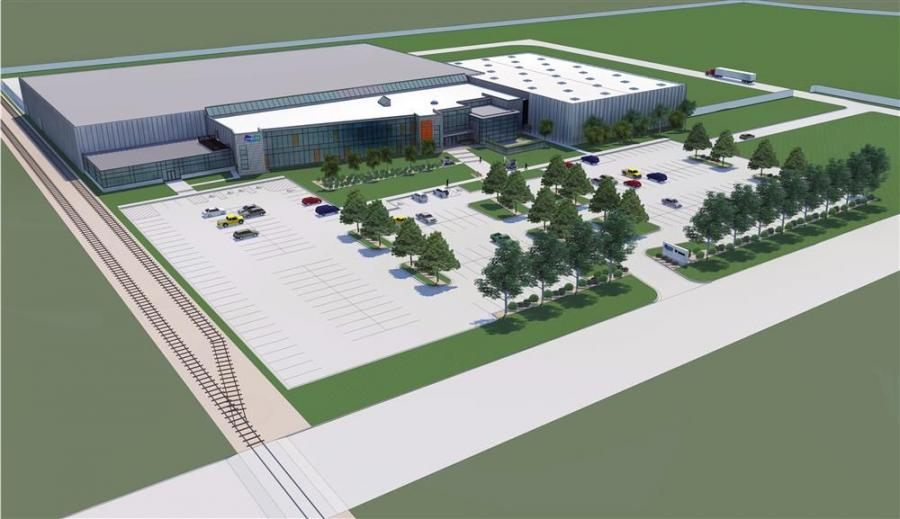 Image courtesy of Bobcat. An artist's rendering of the $20 million renovation and expansion to create the Acceleration Center in Bismarck, N.D.