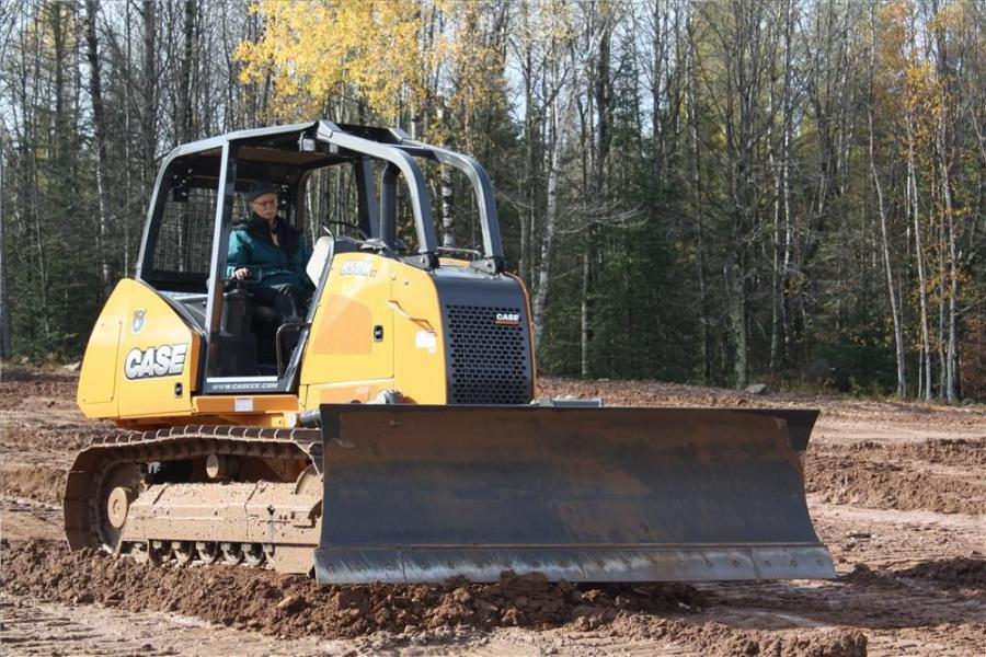 The Case 850M Lt is put through its paces on the grounds of Case's Customer Center during the unveiling of the M Series Dozers in Tomahawk, WI.