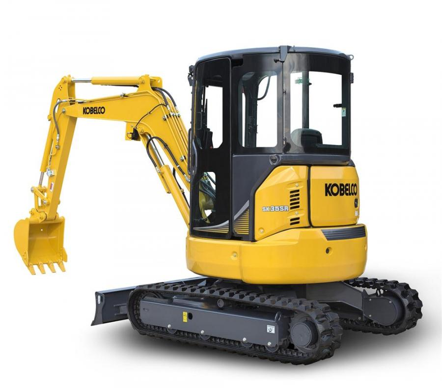 Kobelco's upgraded SK35SR excavator with iNDr technology.
