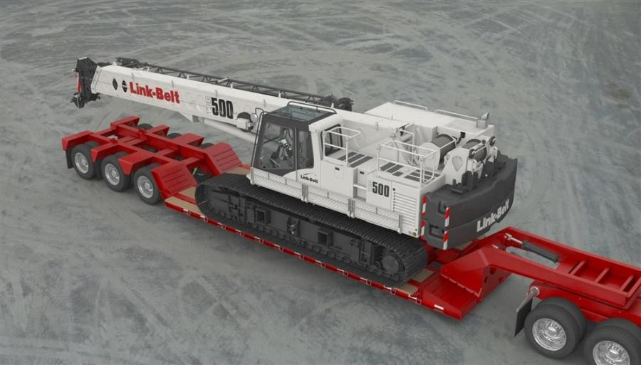 Link-Belt will unveil its all-new 50-ton (45 t) TCC-500 telescopic crawler crane at ConExpo, March 4 to 8 in Las Vegas, Nev.