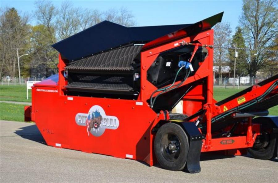 The Pitbull 2300 incorporates several unique features, most notably full hydraulic operation, tubular frame construction, a Torflex axle and a reversible shaker at the top of the list.
