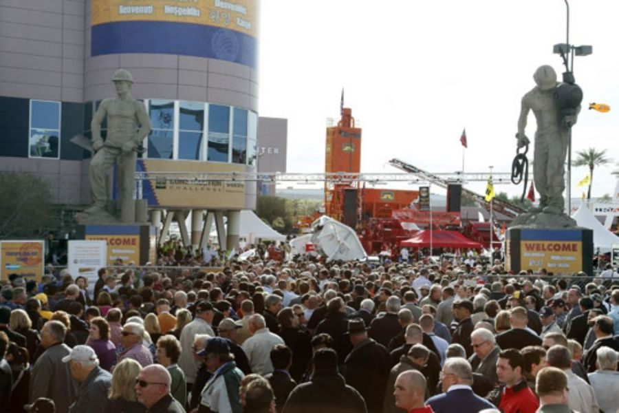 Attendees gathered for the 2011 CONEXPO-CON/AGG exposition, which featured 2 million net square feet of exhibit space.