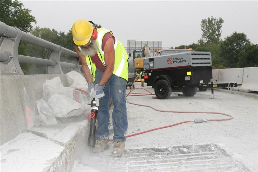 Originally designed for removing rivets and various other metal applications, the CP 4608 and CP 4611 rivet busters also are used for concrete demolition and bridge work.