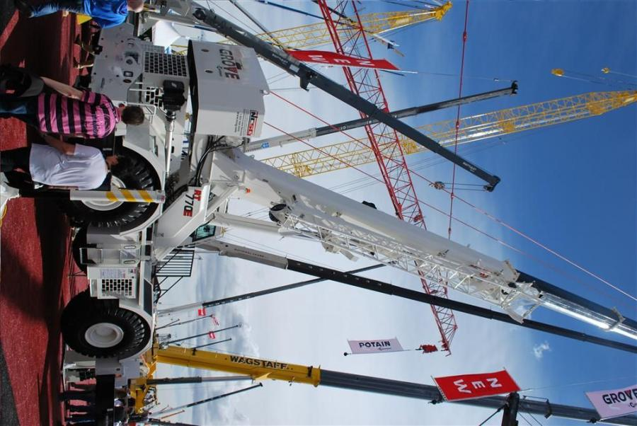 Among the mobile cranes that were on display at ConExpo this year was the new Grove RT770E rough-terrain crane.
