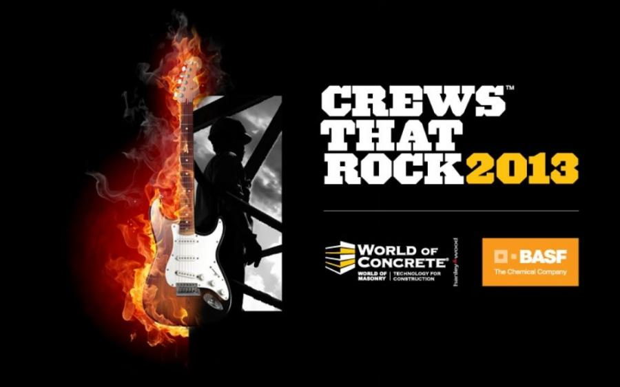 World of Concrete 2013 will once again present the Crews That Rock competition, sponsored by BASF, to honor crew members for their teamwork and contribution to the industry.