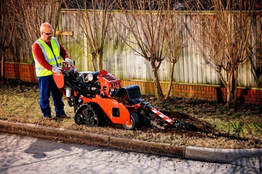The new Ditch Witch RT24 trencher