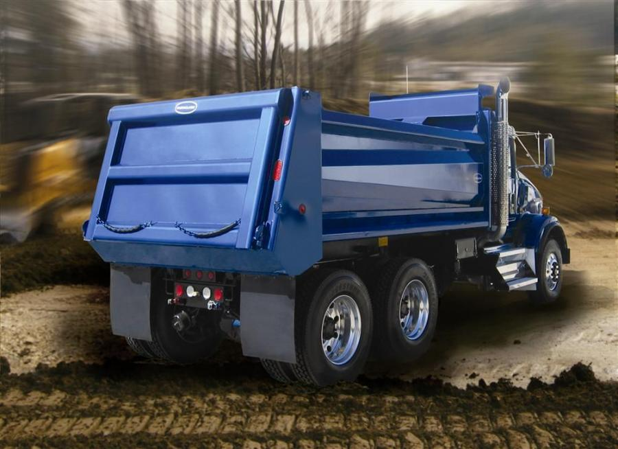The DuraClass Bedrock dump body features a contemporary design that also incorporates high strength materials for durability.