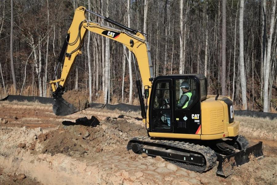 All the E Series models are equipped with a new digital control panel that is specially designed for Cat mini-excavators — compass — complete operation, maintenance, performance and security system.