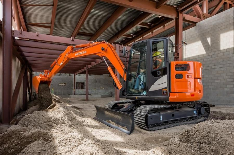 The ZX85US-5 is one of the new models in the Zaxis Dash-5 line.