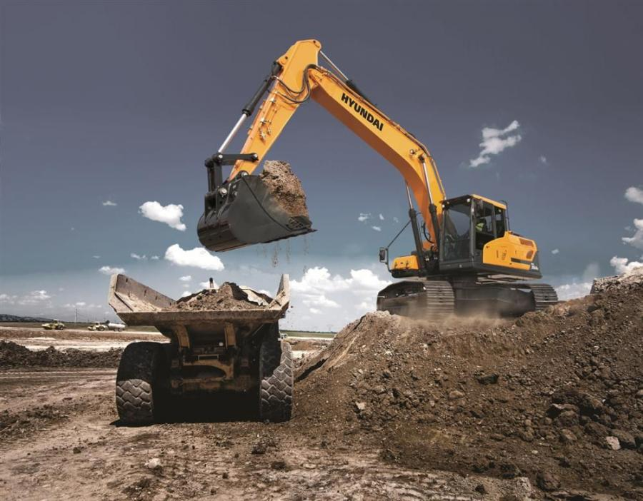 The HX series excavators from Hyundai Construction Equipment Americas feature new technologies that make the operating experience more comfortable, more ergonomic and more user-friendly. Shown is the new HX260L, one of seven models hitting the ground now.