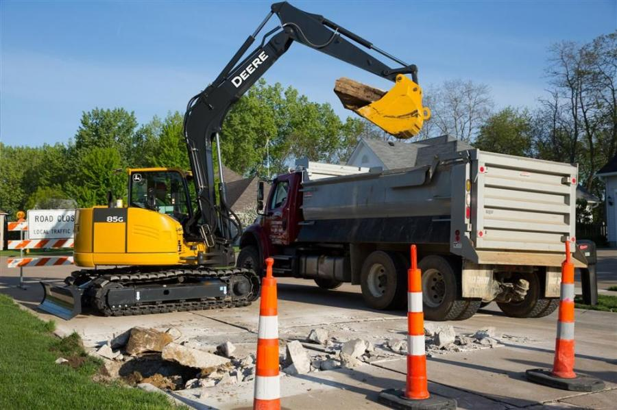 The 75G and 85G were designed to handle a variety of jobs, including landscaping, light residential excavating, site development or underground work.