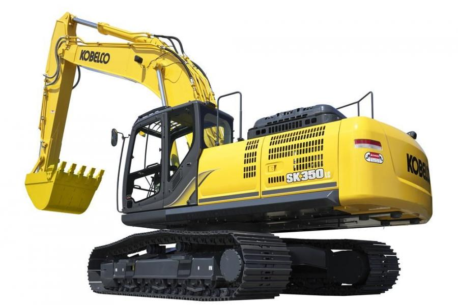 Kobelco's 82,200 lb. (37,285 kg) SK350 is powered by a 270 hp, Tier IV Final HINO engine. This model incorporates both selective catalytic reduction (SCR) and self-cleaning diesel particulate filter (DPF) systems to provide the lowest possible opera