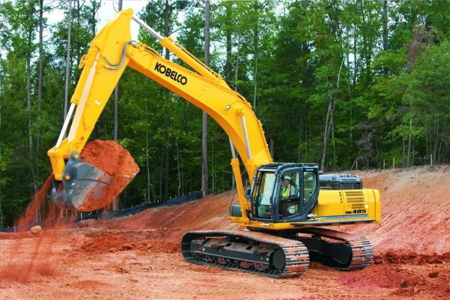The new SK485 Mark 9 excavator features an upgrade to Kobelco's intelligent hydraulics, and a new economy power mode that delivers improved fuel efficiency.