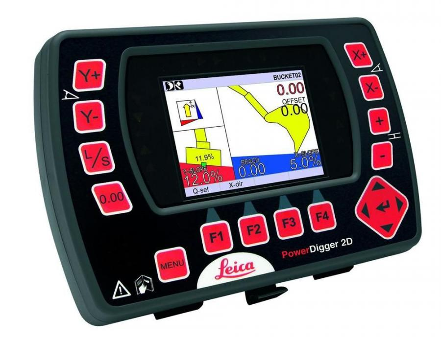 Leica PowerDigger 2D expands Leica Geosystems' PowerSnap concept, providing total flexibility and interchangeability of machine control panels and sensors between machinery such as excavators, dozers and graders.