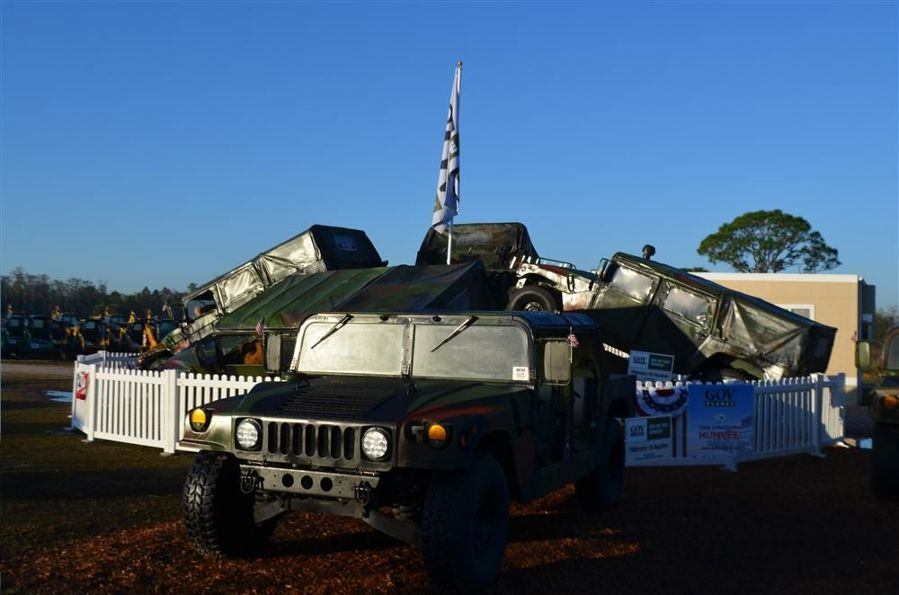 Several military surplus Humvees were available at GovPlanet, a new online auction division of IronPlanet.