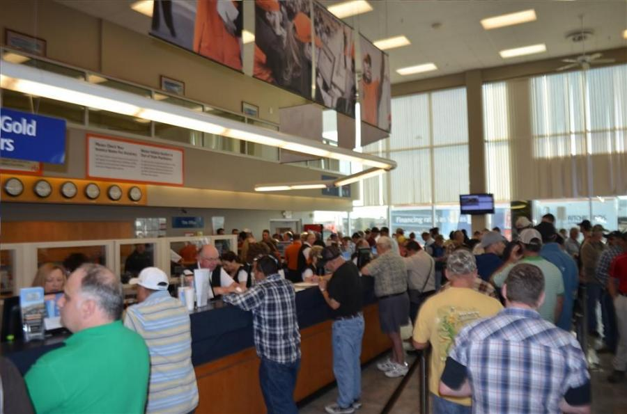 Thousands of bidders from around the world registered to bid on the opening day at Ritchie Bros. Orlando sale.