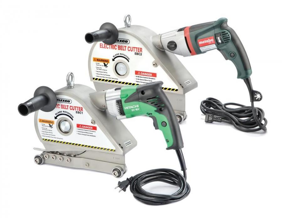 Flexco's electric belt cutter is designed to provide quick and easy cuts on rubber, PVC and fabric-plied belts.