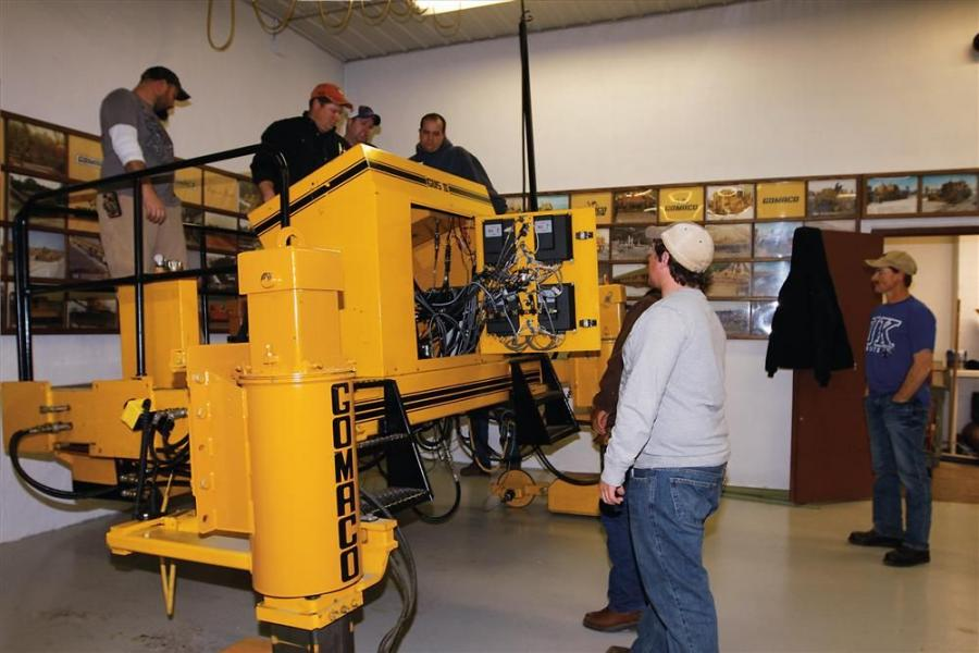 GOMACO University combines classroom learning with hands-on machine experience. In the university's shop area, students work out problems on one of the university's trainers, GUS II.