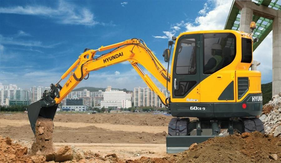 Hyundai's new R60CR-9 is the latest addition to Hyundai's family of compact radius precision excavators.