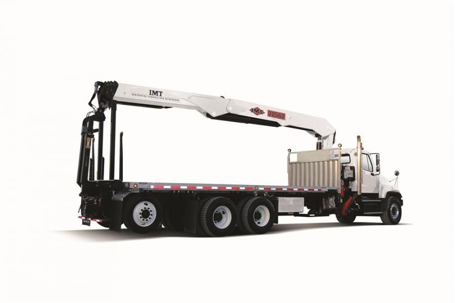 The IMT 28562 has a maximum lift capacity of 5,700 lbs. (2,585 kg), up to 62 ft. 3 in. (19 m) of horizontal reach and a maximum vertical reach of 71 ft. 4 in. (21.8 m).