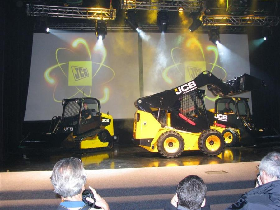 JCB put on a theatrical presentation to showcase its New Generation machines.