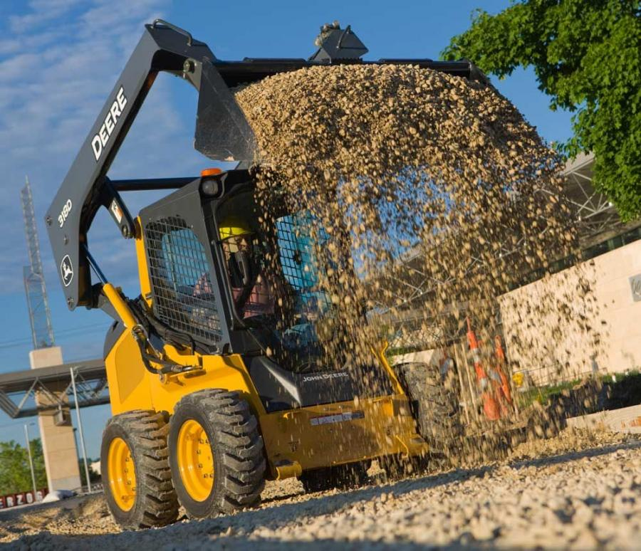 The 318D, 320D, 326D, 328D and 332D are the new skid steer models, joining the existing small-frame, radial lift 313 and 315.