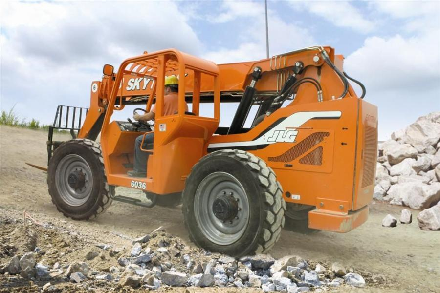 Jlg Telehandlers Now Equipped With Firestone Tires Construction