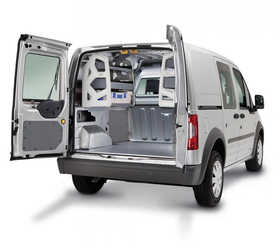 The new van equipment includes the Sortimo Globelyst, Simpleco and CarMo systems along with industry leading van partitions.