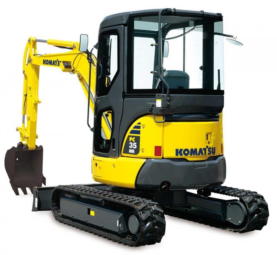 The PC35MR-3 is a member of the minimum swing radius (MR) family of compact excavators.