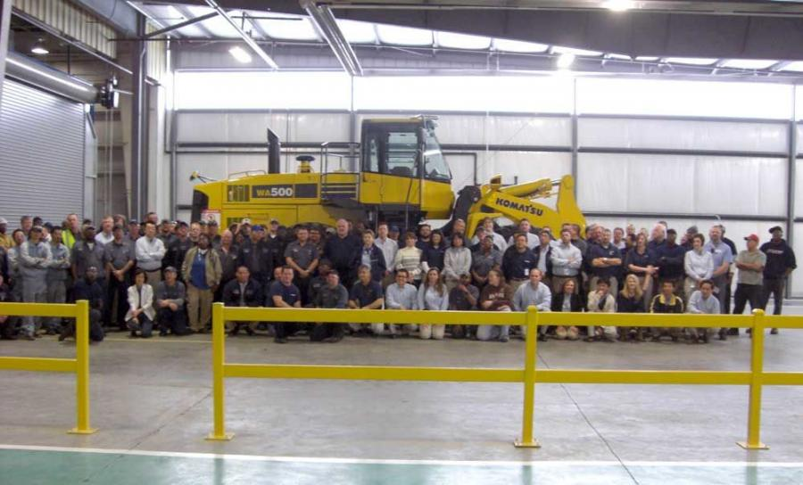 Komatsu has begun shipping wheel loaders manufactured at its Newberry Manufacturing Operation in Newberry, S.C.
