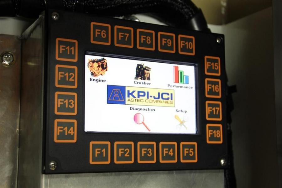 KPI-JCI has introduced new color monitors in its track-mounted equipment line to enhance performance, navigation and diagnostics for operators and technicians. The monitors, shown here on a FT4250 unit, feature improved display resolution and a more user-