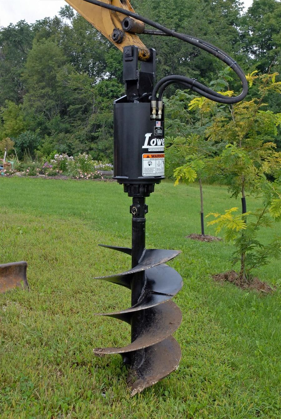 Lowe offers nine different models of auger drives to optimize the performance of tractor loader backhoes.