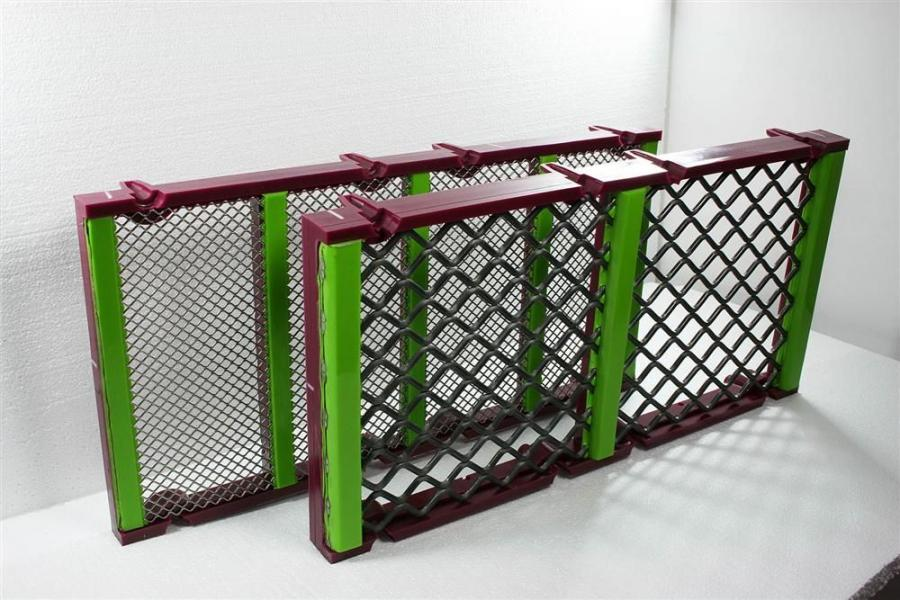 Major Wire Industries Limited now offers a full line of new 1 by 2-ft. (.3 by .6 m) Flex-Mat 3 self-cleaning polyurethane modular screen media panels.