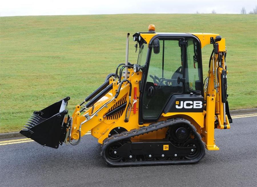 With skid steer ability and integral backhoe loader, the 1CX T concept machine combines the features of two machines in one.