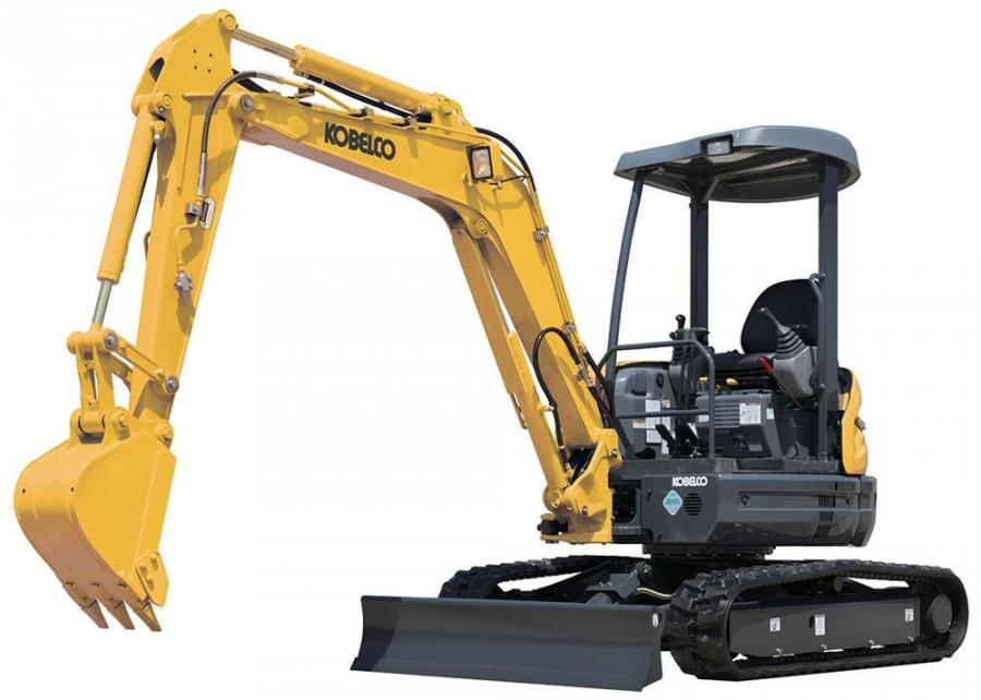 The 28.4 hp (21 kW), SK35SR has a bucket digging force of 8,430 lbs. and a bucket capacity of .144 cu. yds. (.1 cu m).