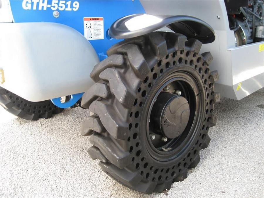 McLaren's Nu-Air semi-pneumatic tire series integrates the strength and stability of a solid tire with the smooth, cushioned ride of a pneumatic tire.