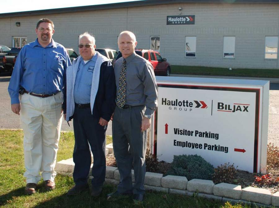 (L-R) are Lyle Fogerty — industrial manager, Paul Lovejoy and Jeff Ott — North American zone manager.