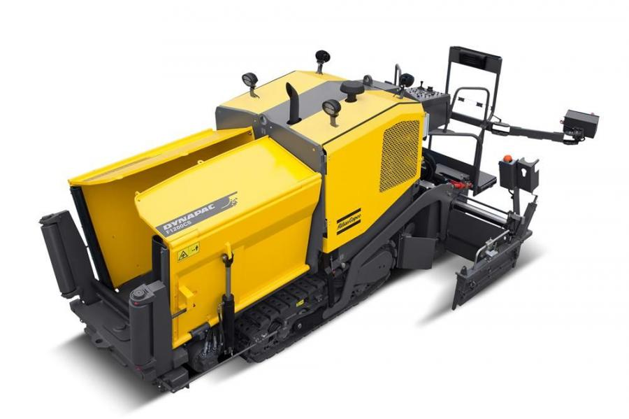 Equipped with a V240VE screed, Dynapac's F1200C paver is compact but has a laying capacity of 330 tons (272 t) per hour.