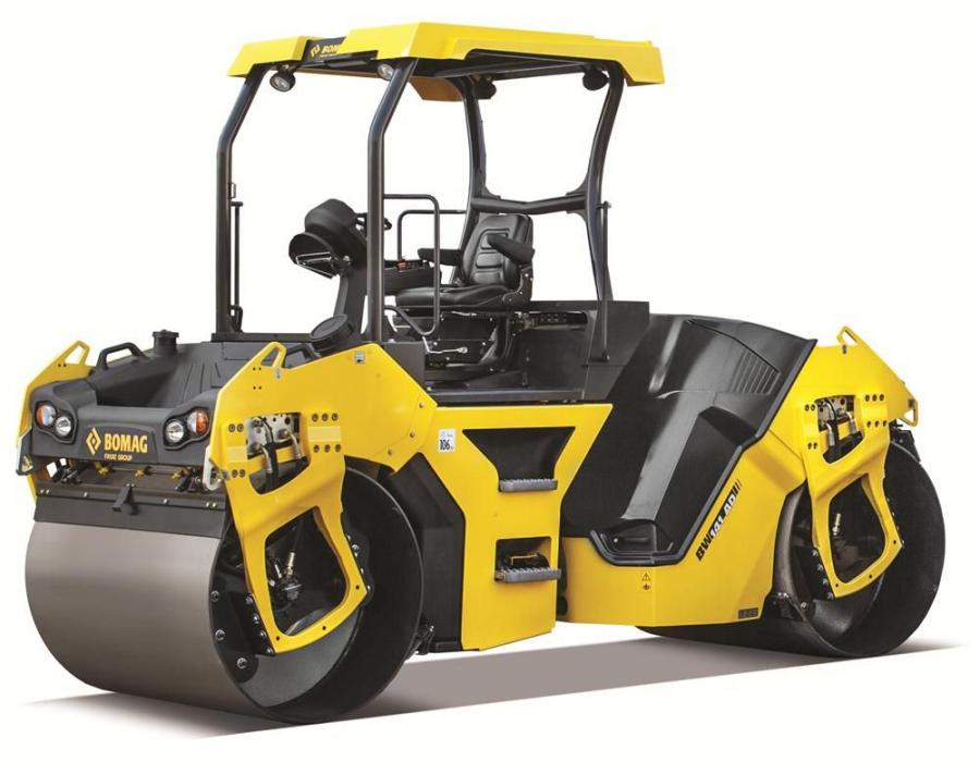 BOMAG's BW141AD-5 and BW151AD-5 tandem vibratory rollers provide 4,200 vpm for enhanced performance on a variety of asphalt compaction jobs ranging from commercial sites and parking lots to highway construction.
