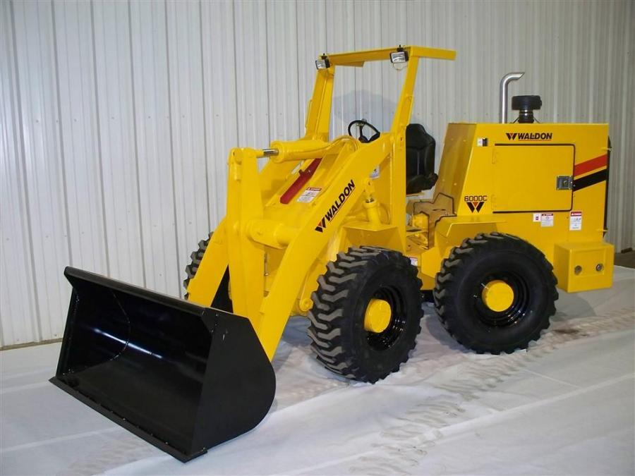 """Since 1957 Waldon products have been setting the standard for compact 4-wheel drive articulated loaders and forklifts, and in 1997 added the """"Dig master"""" loader backhoe line."""