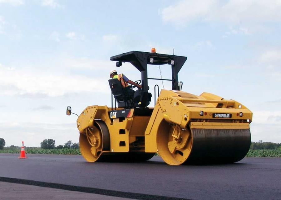 The CB64, with 84 in. (213 cm) wide drums, is designed for wide width paving and provides a maximum weight of 30,291 lb.  (13,740 kg).