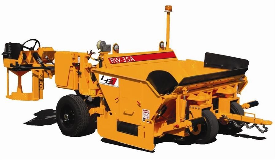 This compact model is easy to service and has design features from larger road-wideners manufactured by LBP, according to the manufacturer.