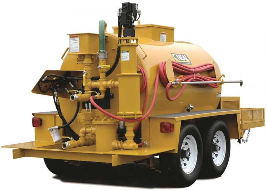 Neal Manufacturing's 550T trailer mounted machine can hold 550 gal. (2,082 L) of material. Its high capacity reduces the time associated with refilling the tank on large projects and additonal trips to the sealer manufacturer or distributor.