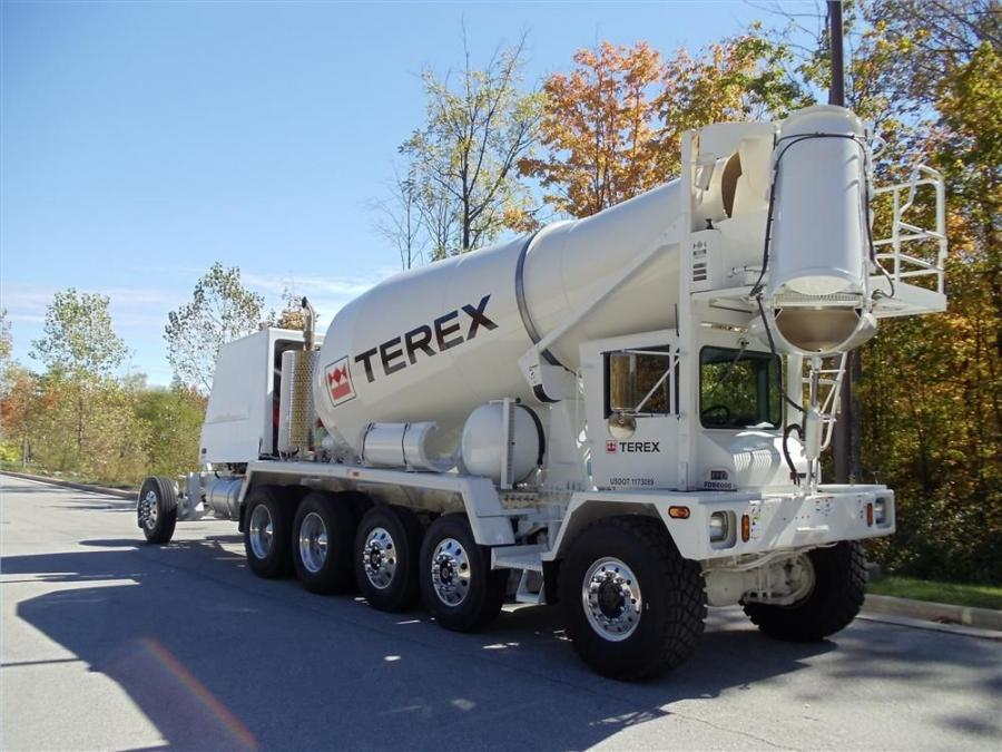 Terex Roadbuilding's discharge mixer truck line consists of three-, four-, five-, six- and seven-axle designs in both standard and bridge formula configurations.