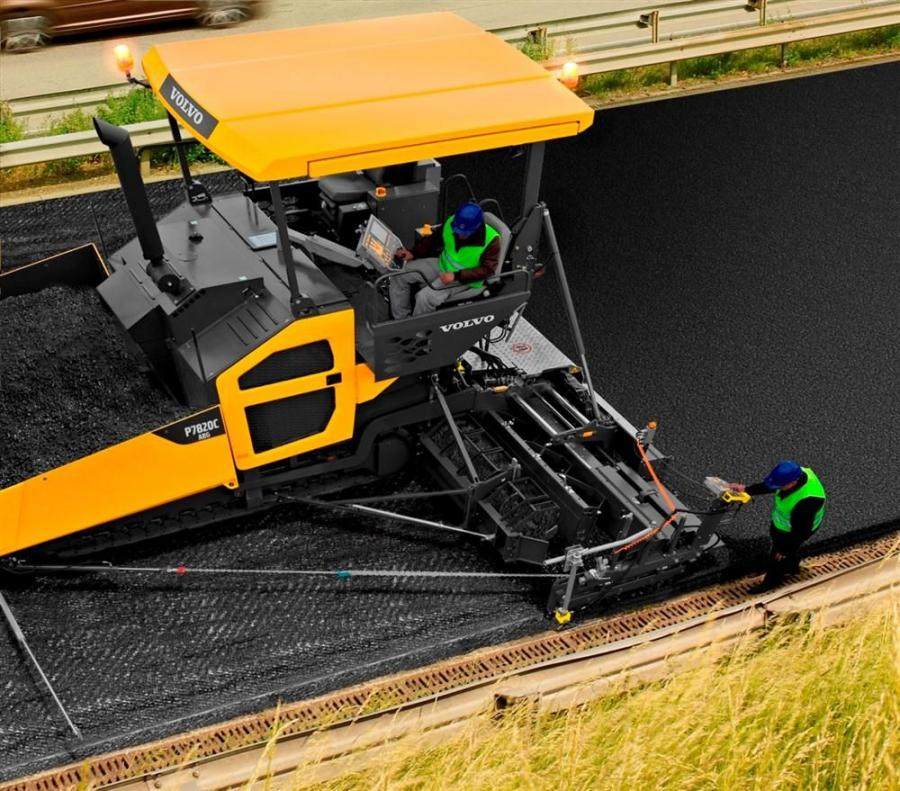 The P8820C ABG tracked paver from Volvo Construction Equipment can pave widths up to 42.7 ft. (13 m), while the P7820C ABG paves up to 36 ft. (11 m).